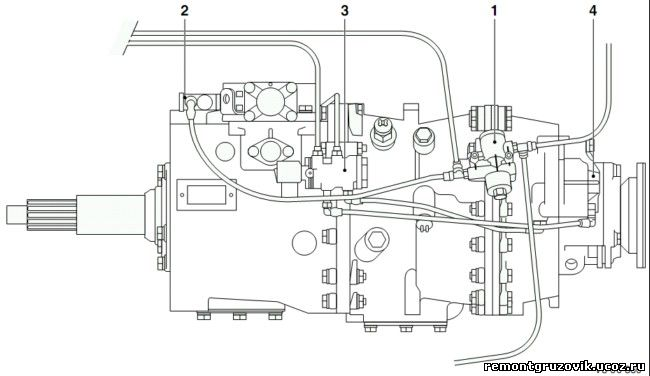 DAF LF45 LF55 ремонт коробки