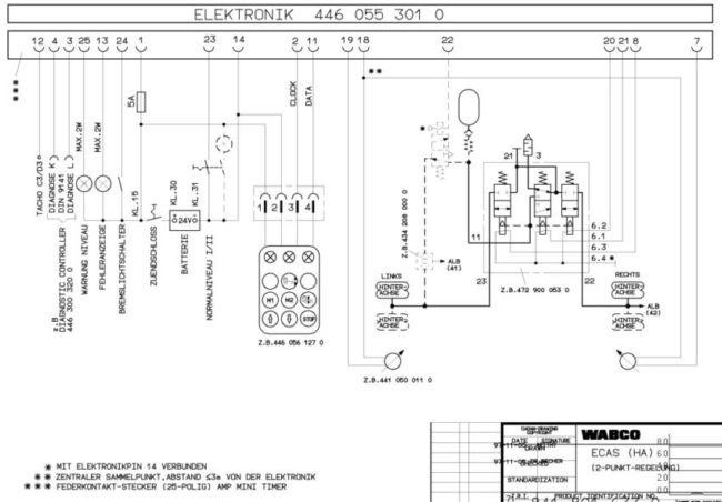 WABCO электрическая схема